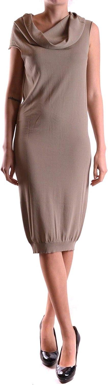 Liviana Conti Women's MCBI21428 Beige Viscose Dress