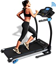 SereneLife Smart Digital Folding Treadmill – Electric Foldable Exercise Fitness..