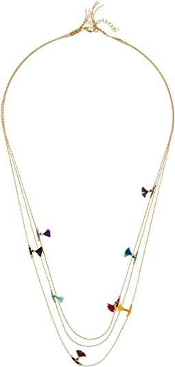 SHASHI Olivia Multi Row Necklace