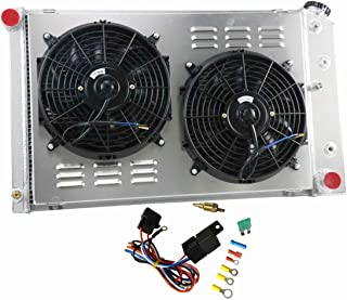 CoolingCare 3 Row All Aluminum Radiator Shroud Fan Assembly for Chevy Camaro 1970-81// Monte Carlo 1978-87 Many GM Cars
