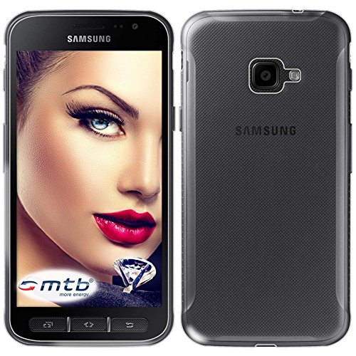 mtb more energy Custodia Clear & Slim per Samsung Galaxy Xcover 4 (SM-G390F, 5.0'') - Trasparente - Flessibile - Sottile - TPU Silicone Case Cover