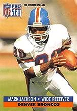 1991 Pro Set Football Card #141 Mark Jackson Denver Broncos Official NFL Trading Card