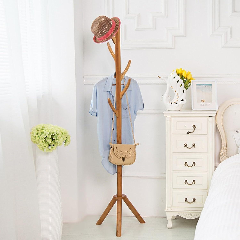 AIDELAI Coat Rack Coat Rack Bedroom Modern Simple Solid Wooden Hanger (color    3)