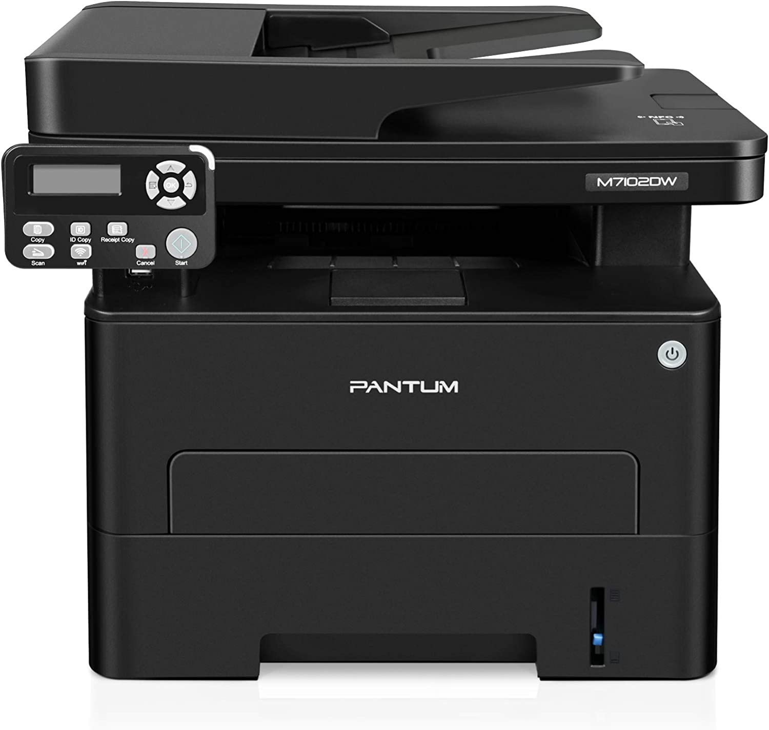 Laser Printer Scanner Copier All in One Machine, Wireless Black White Laser Printer for Home Office, Print at 35PPM, Pantum M7102DW(V4T56A)