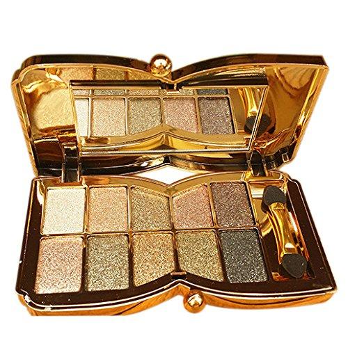 TOOGOO(R) Diamant Helle bunte Make-up Lidschatten Super Make-Up Set Flash-Glitzer-Lidschatten-Palette mit Pinsel (6#)