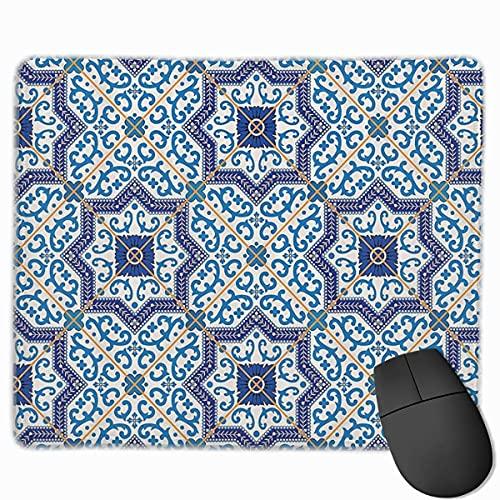 Marokkanischer portugiesischer Stil Klassische Fliesen Mode Rutschfestes Mousepad Mauspad Mauspad
