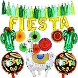 Tacobear Fiestas Mexicano Decoración Party Accesorios Kits Abanicos Papel Fiestas Globo Banner Fiesta Borla Guirnalda Llama Cactus Globos para Mexicana Tema Fiesta Cumpleaños Suministros