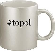 #topol - Ceramic Hashtag 11oz Silver Coffee Mug, Silver