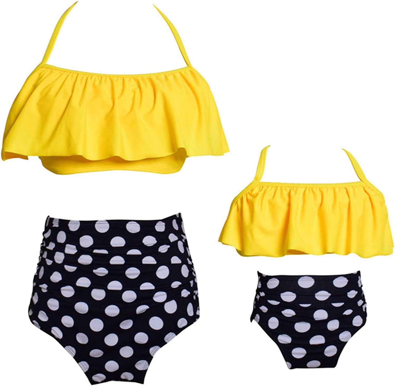 GRASWE Mommy and Me Swimsuits Family Matching Swimwear Girls Bat