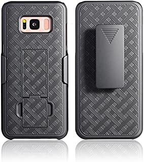 Galaxy S8 Holster Case, WizGear Shell Holster Combo Swivel Slim Belt Case for Samsung Galaxy S8 with Kick-Stand and Belt Clip (NOT for Galaxy S8 Plus)