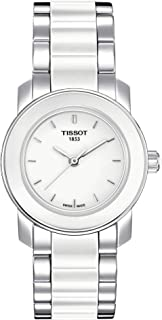 Tissot Women's White Dial Color Metal & Ceramic Band Watch - T064.210.22.011.00
