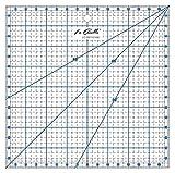 La Canilla ® - Regla Cuadrada de Pachwork 16x16cm (Azul) de Acrílico para Costura, Manualidades, Quilting y Patronaje Antideslizante