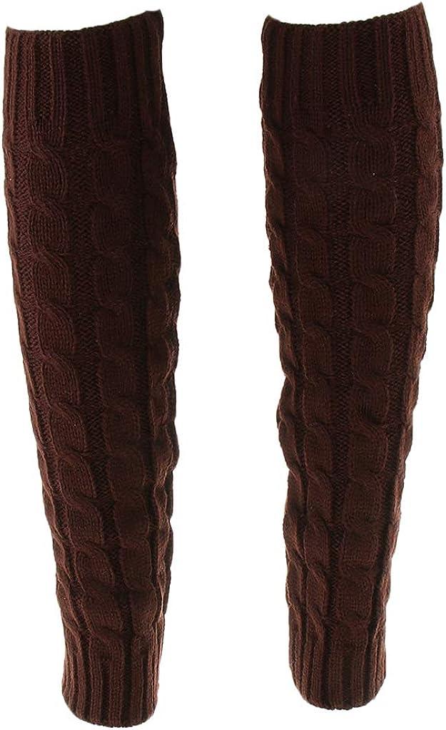 Bonarty Leg Warmer Socks Long Knitted Warm Winter Ladies High Legging Boot Socks