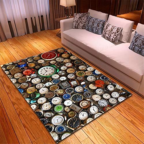 Tappeto Camera Soggiorno Salotto Moderno Antiscivolo Elastico di Alta qualità Durevole Molti Minuti in Casa e Cucina Bagno Corridoio Balcone rugs-100x150cm