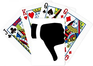 Ridicule Gesture Outline Pattern Poker Playing Magic Card Fun Board Game
