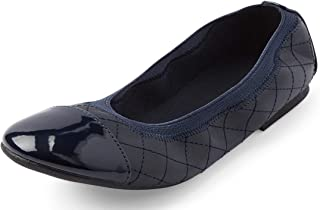 The Children's Place girls Quilted Ballet Flat