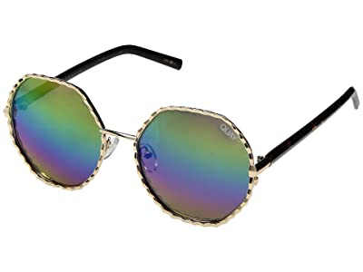 QUAY AUSTRALIA Breeze In (Gold/Purple Rainbow) Fashion Sunglasses