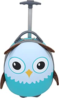 "Emmzoe Kids & Toddler 15"" Carry On Animal Trolley Hardshell Luggage - Lightweight EVA, Dent Proof, Adjustable Handle for Age 2+"