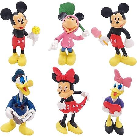 WENTS Juego de Minifiguras de Mickey Suministros para Fiesta de cumpleaños Figuras para Cupcakes decoración para Tartas Suministros para decoración de Tartas 6 Piezas