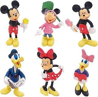 WENTS Juego de Minifiguras de Mickey Suministros para Fiesta de cumpleaños Figuras para Cupcakes decoración para Tartas Su...