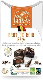 Belvas Belgian Brut de Noir Dark Chocolate Praline w/ Coco Sugar 3.5 oz (1 Box)