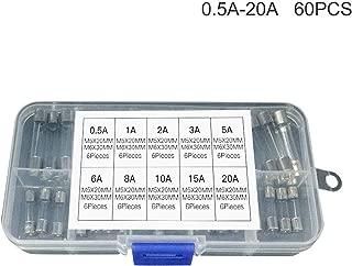 Sttoce Kit di sostituzione fusibile lama standard mini fusibile per auto 200 pezzi 5A 8 A16A 25A 40A con scatola di immagazzinaggio