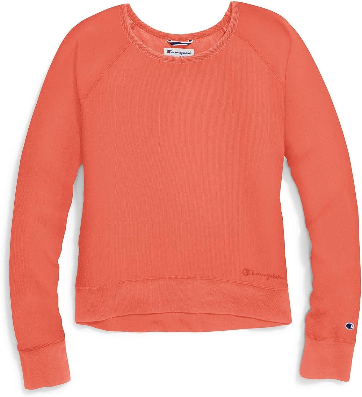 Champion Womens Vintage Dye Fleece Crew Sweatshirt