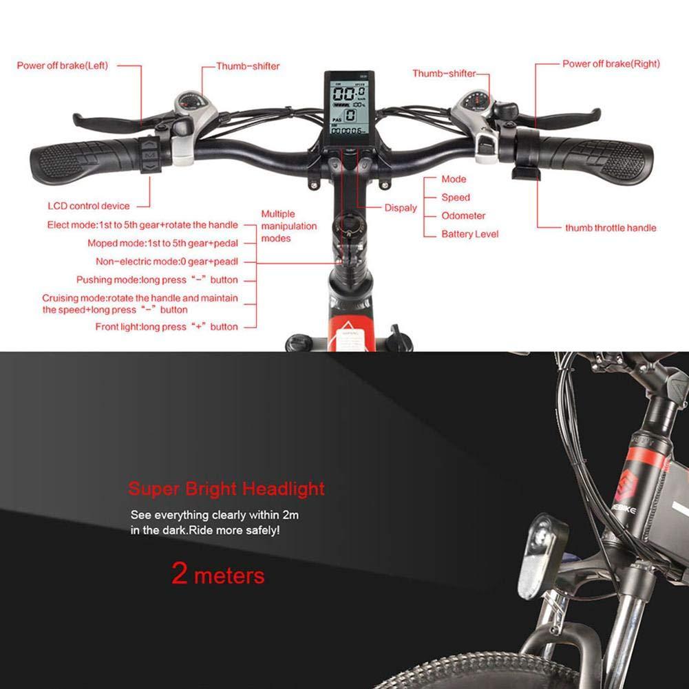 Cedarfiny Samebike - Bicicleta eléctrica plegable de 26 pulgadas ...