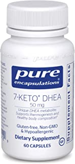 Pure Encapsulations - 7-Keto DHEA (DHEA-Acetate-7-one) 50 mg - Unique DHEA Metabolite - Hypoallergenic Dietary Supplement - 60 Capsules