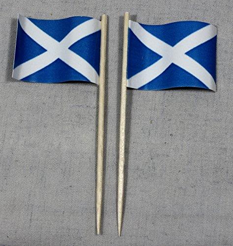 Buddel-Bini Party-Picker Flagge Schottland Papierfähnchen in Spitzenqualität 50 Stück Beutel