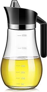 Aceitera Antigoteo, 650ML Aceitera Cristal Botellas Cristal
