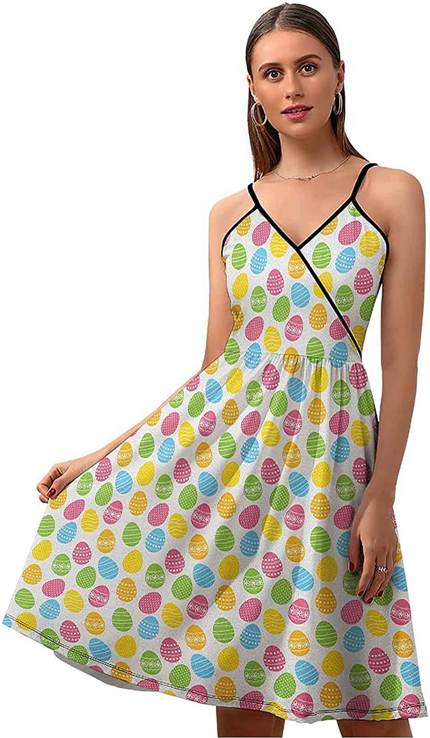 Easter Summer Dresses Casual Greeting Fun Spri The Colorful OFFer Max 86% OFF and