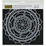 CRAFTERS WORKSHOP TCW-461 Template, 12 by 12-Inch, Rosetta