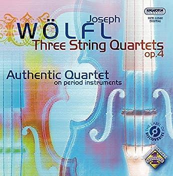 Wolfl, J.: String Quartets, Op. 4, Nos. 1-3