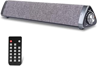 Wired and Wireless Sound Bar Speaker, Home Theater Stereo Mini Soundbar Speaker with Remote Control for PC Cellphone Tablets Desktop Laptop