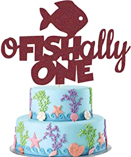 O Fish Ally One Cake Topper, Gone Fishing First Birthday Cake Decor, Little Fisherman/the Big One/Fishing/Ofishally One 1st Birthday Party Supplies Decoration