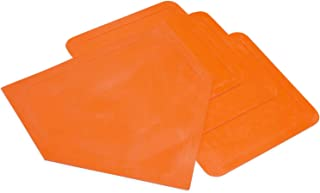 Champion Sports Indoor Outdoor Bases: Orange Youth League Baseball & Softball Rubber Throw Down Base Set - Boys & Girls Training & Practice Equipment