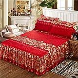 huyiming Utilisé pour Le Textile à la Maison Jupe de lit Couvre-lit literie Style...