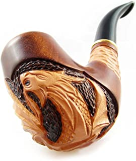 Fashion Decorated smoking pipe, Carved Pear Root Wood