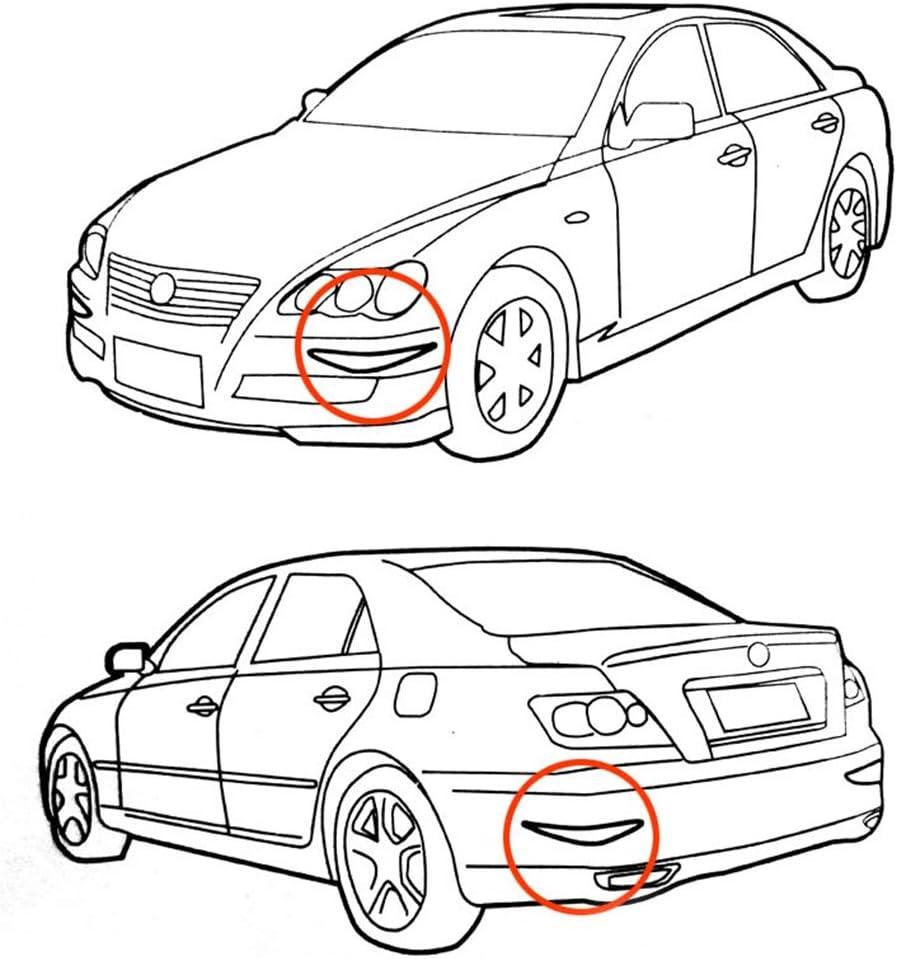 GBHGBH IT 2 Pezzi YI-237 Universal Car Body Paraurti Guard Protector Sticker Turning Guard//Car Crash Bar Bumper Strips//Car Crash Strips//Strisce Anti-sfregamento//Anti-Rub Bar Nero