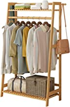 House of Quirk Bamboo Garment Coat Clothes Hanging Duty Rack with Top Shelf and Shoe Clothing Storage Organizer Shelves - (80x140cm) DIY (DO-IT-Yourself) Product.