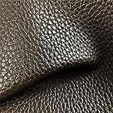 Tela Polipiel Marrón Chocolate textura rugosa Ancho 1,50Mtrs. 1 Mtr.