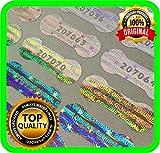 470 étiquettes hologramme avec sceau de sceau 20 x 7 mm