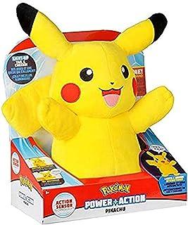 Pokémon Plush Power Action Feature Pikachu 10 Inch, Multi Color, 97834