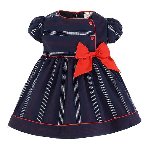 1a1f2ae72 Marakitas Toddler & Girl Nautical Sailor Stripped Dress – Princess Holiday  Party Special Occasion