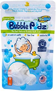 TruKid Bubble Podz, 24-Count, Unscented, Kids Bubble Bath for Sensitive Skin, Soothing Skin (Eczema), Bath Bubbles in Wate...