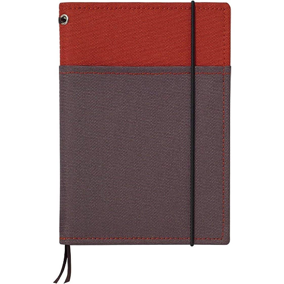コクヨ カバーノート システミック 2冊収容タイプ 赤/グレー A6 B罫 48枚 ノ-659B-2 【まとめ買い3冊セット】