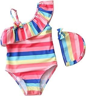 Wnitefg Toddler Little Girls Princess 2-Piece Tankini Swimsuit Swimwear 3-8Y