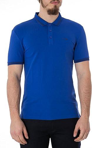ARhommeI JEANS - Homme hommeches courtes polo avec logo 8n6f30 l bleu
