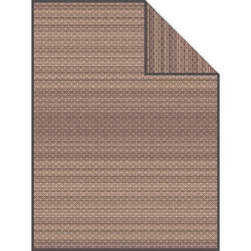 Ibena Wohndecke Sitra Baumwollmischung braun/anthrazit Größe 150x200 cm